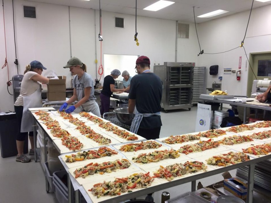 Tom's staff works diligently to assemble the delicious strudels at their community kitchen in St Paul, MN.