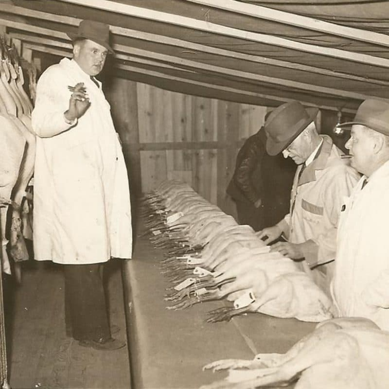 Uncle Lloyd on the Peterson Turkey Farm