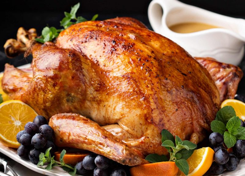Cooked Fresh Whole Turkey