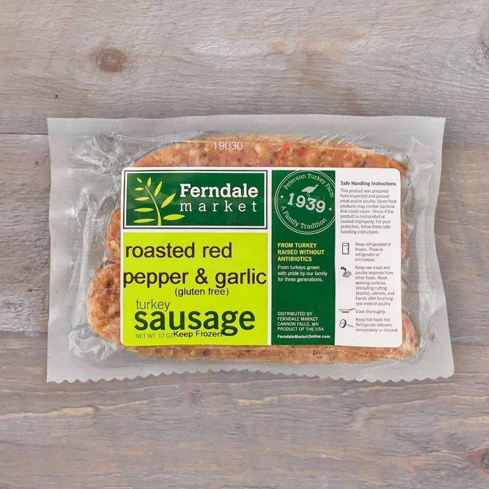Roasted Red Pepper & Garlic Turkey Sausage | Ferndale Market