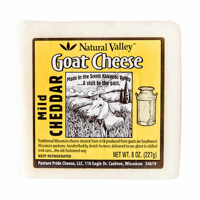 Natural Valley Goat Cheese Mild Cheddar