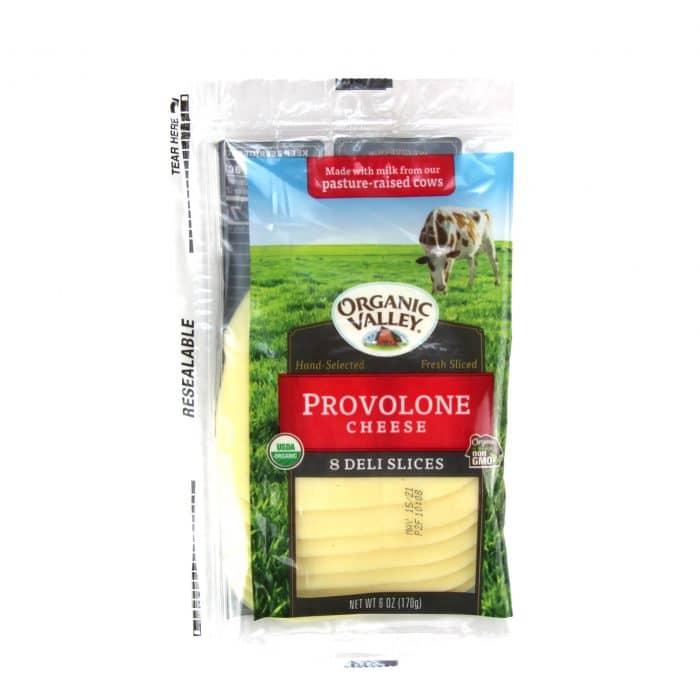 Organic Valley Provolone Deli Cheese Slices