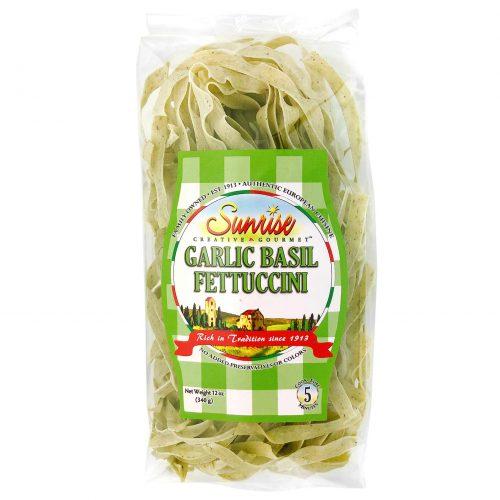 Sunrise Garlic Basil Fettuccini