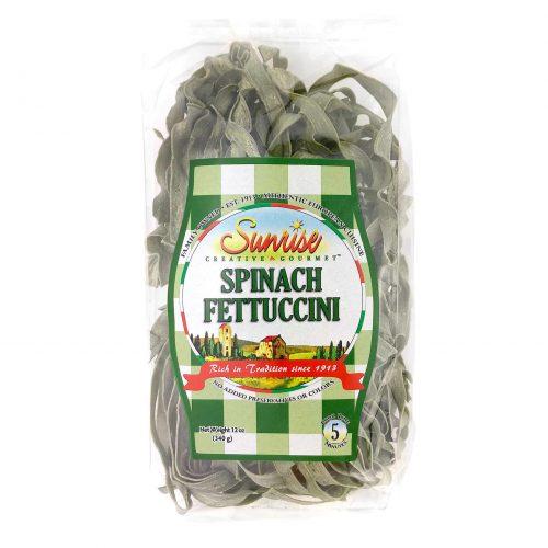 Sunrise Spinach Fettuccini