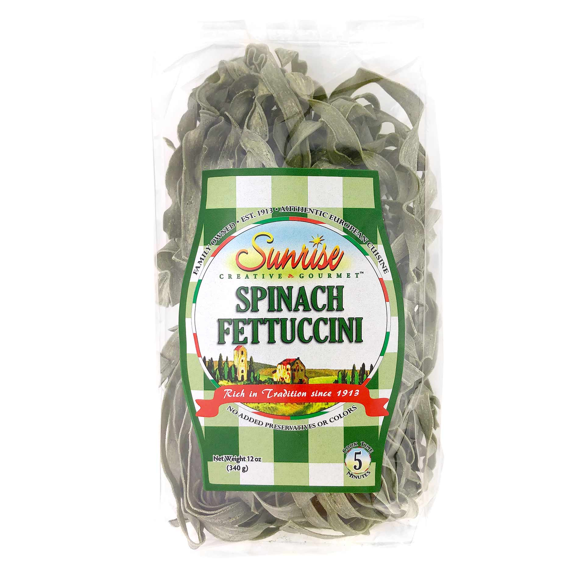 Sunrise Spinach Fettuccini