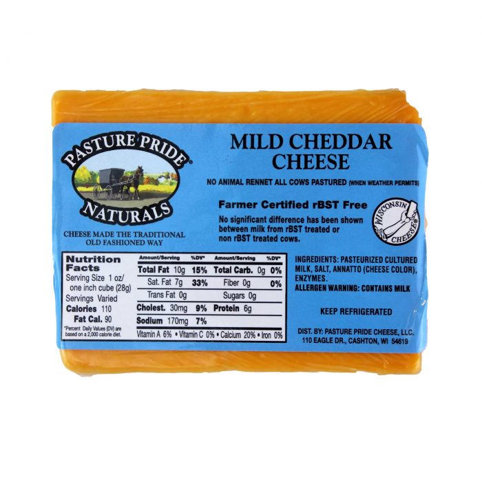 Pature Pride Mild Cheddar Cheese