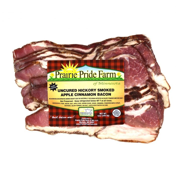 Prairie Pride Uncured Hickory Smoked Apple Cinnamon Bacon
