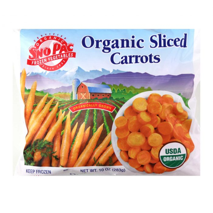 Sno Pac Organic Sliced Carrots