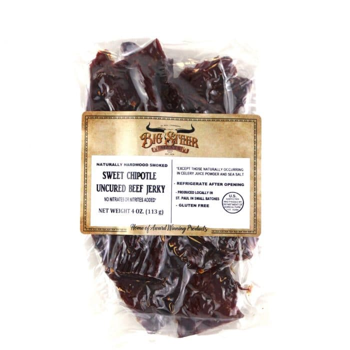 Big Steer Meats Uncured Beef Jerky Sweet Chipotle